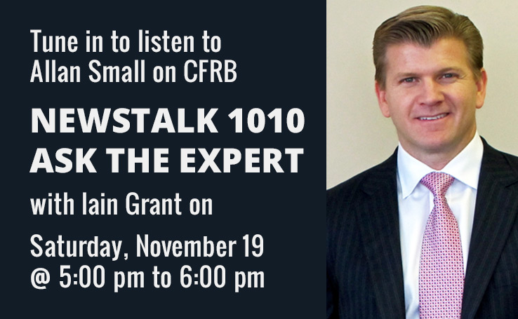 Newstalk 1010 Ask The Experts – With Allan Small