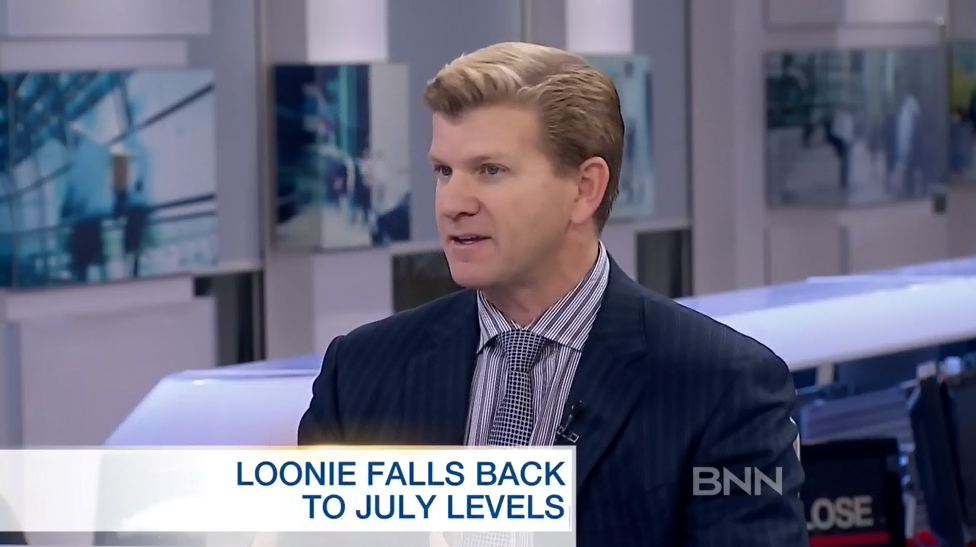 BNN Interview – Loonie Falls Back To July Levels