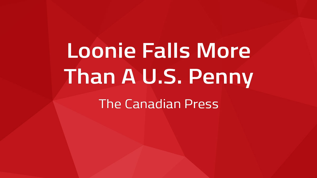 Loonie Falls More Than A U.S. Penny