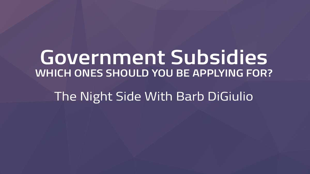 The Night Side with Barb DiGiulio – Government Subsidies